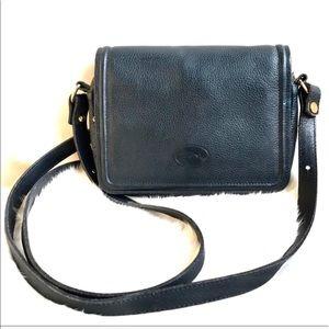 Longchamp Mini Crossbody Wallet Bag Black Leather